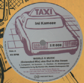 Ini Kamoze - World A Music (Extended Mix) / Out In The Street Dub (Taxi) 12""